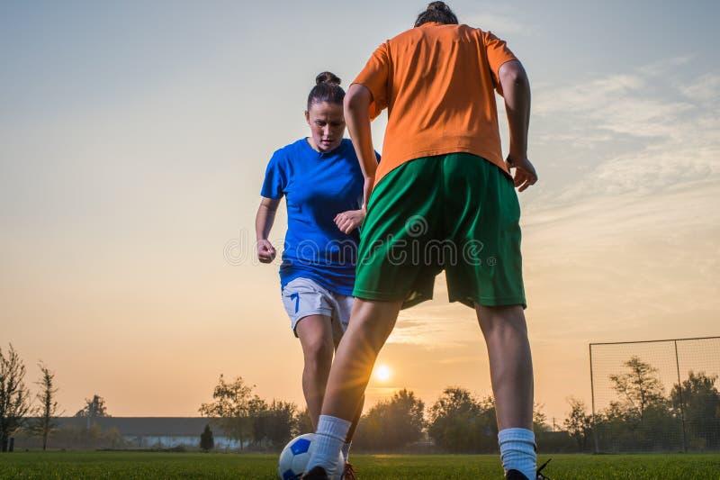 Le football des femmes images stock
