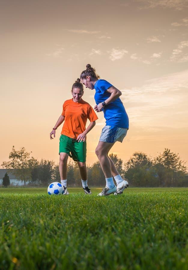 Le football des femmes image libre de droits