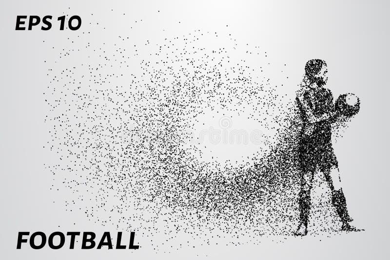 Le football des particules Le gardien de but maintient des menthes dans ses mains La composition se compose de petits cercles ENV illustration stock