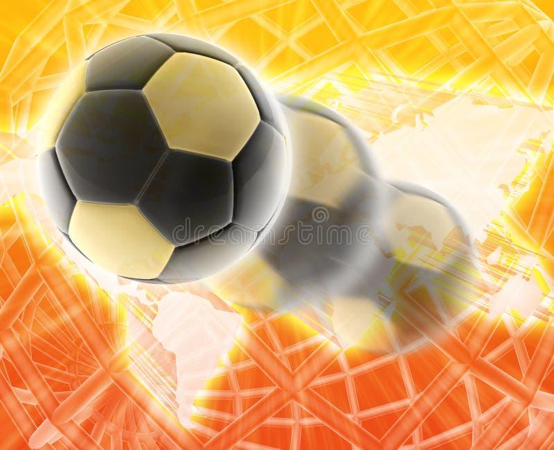 Le football du football de coupe du monde illustration stock