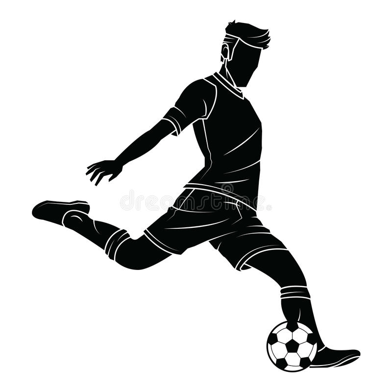 Le football du football silhouette le joueur illustration libre de droits