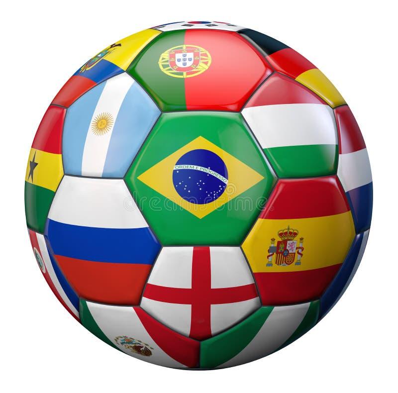 Le football du monde illustration de vecteur