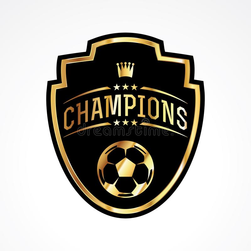 Le football du football soutient l'illustration d'emblème d'insigne illustration stock
