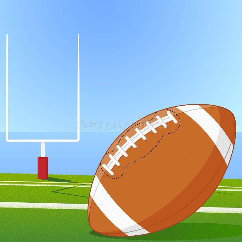 Le football et but illustration de vecteur