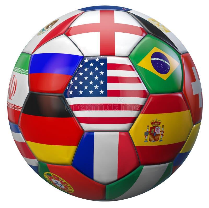 Le football Etats-Unis du monde illustration de vecteur