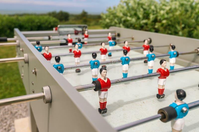 Le football extérieur de table photo stock