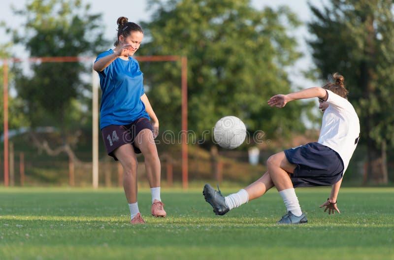 Le football femelle images stock