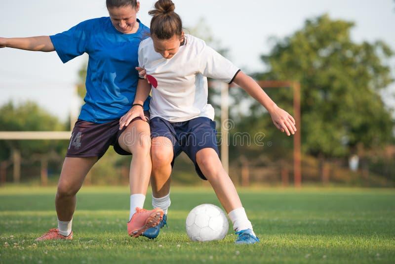 Le football femelle images libres de droits
