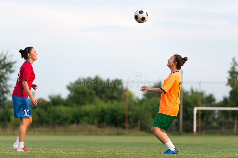 Le football femelle photos stock