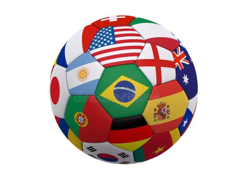 Le football/football du monde illustration stock