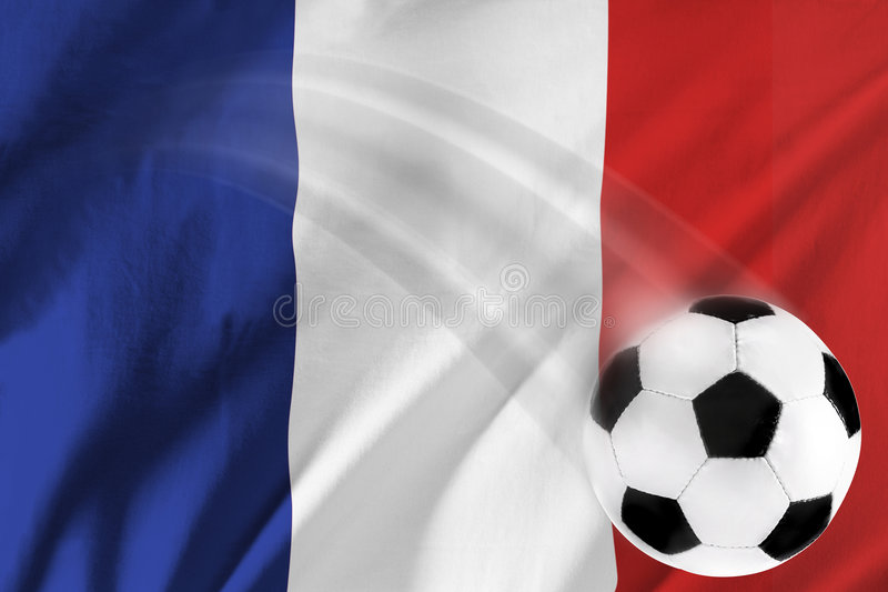Le football français photo stock