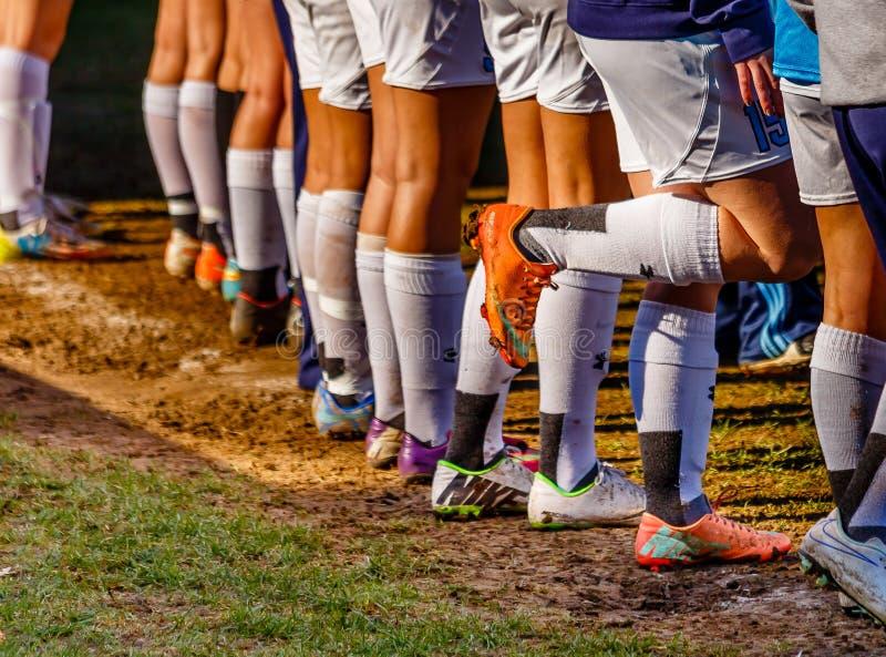 Le football Futbol de femmes image libre de droits