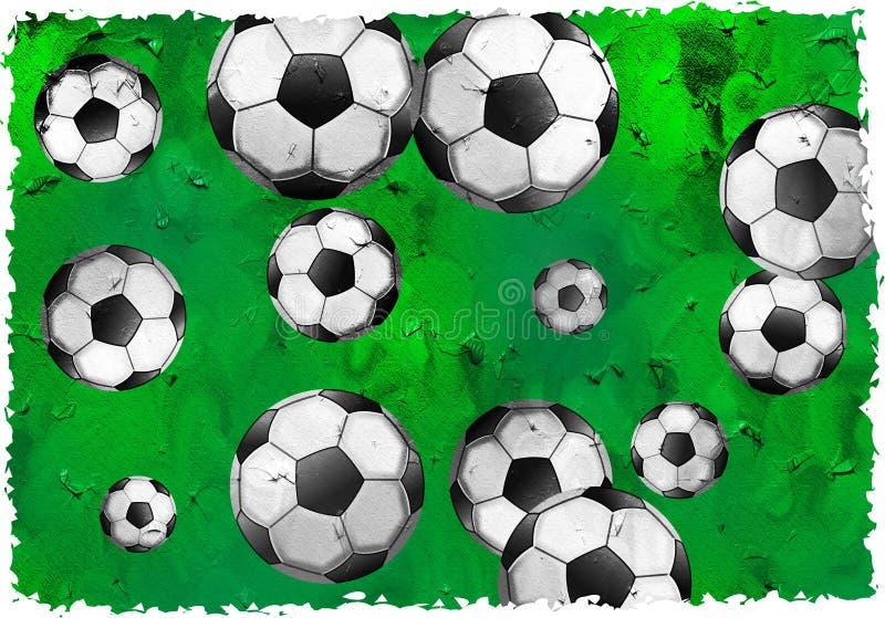 Le football grunge photos stock