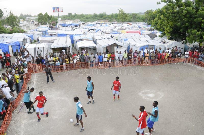 Le football haïtien. photographie stock libre de droits