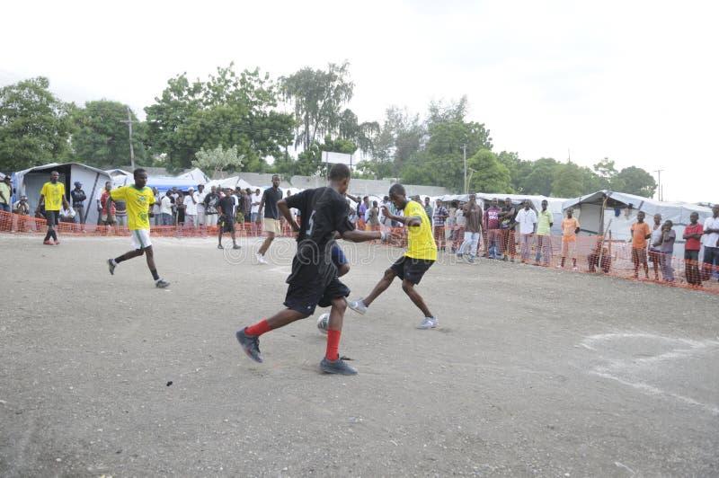 Le football haïtien. photo libre de droits