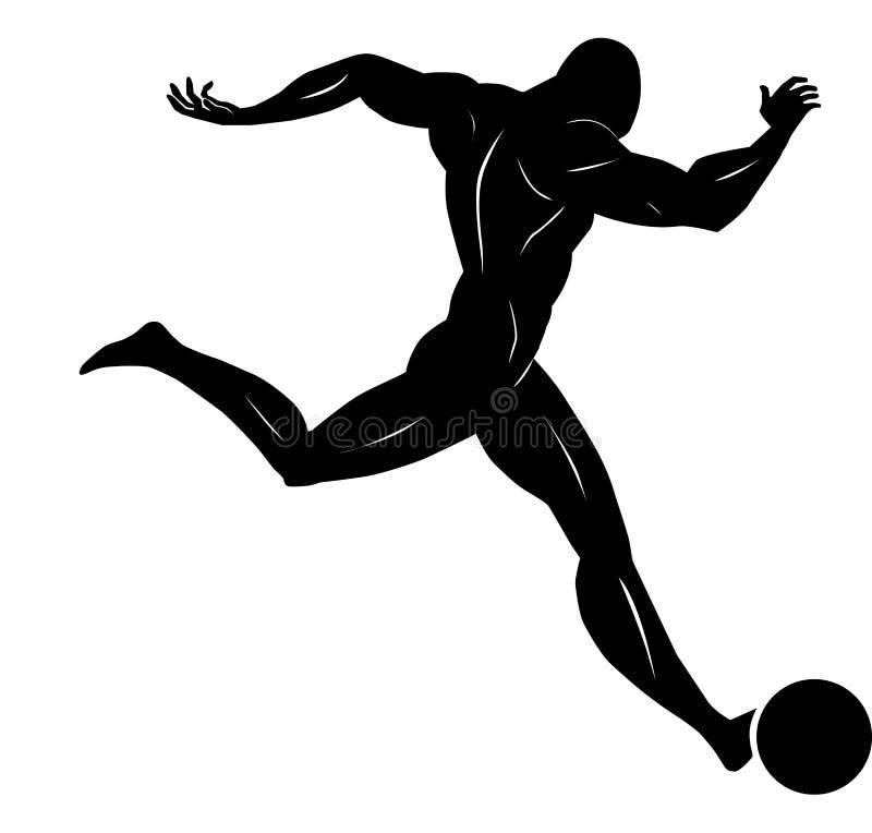 Le football, illustration illustration de vecteur