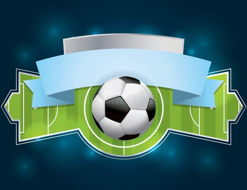Le football - insigne et bannière du football illustration libre de droits
