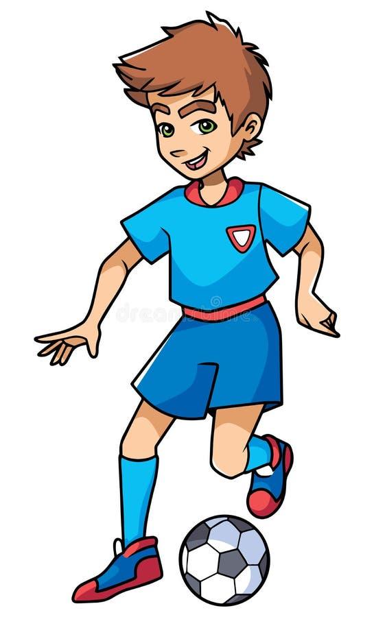 Le football jouant le garçon illustration de vecteur