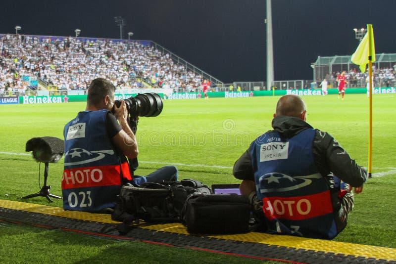 Le football - ligue de champions d'UEFA images libres de droits