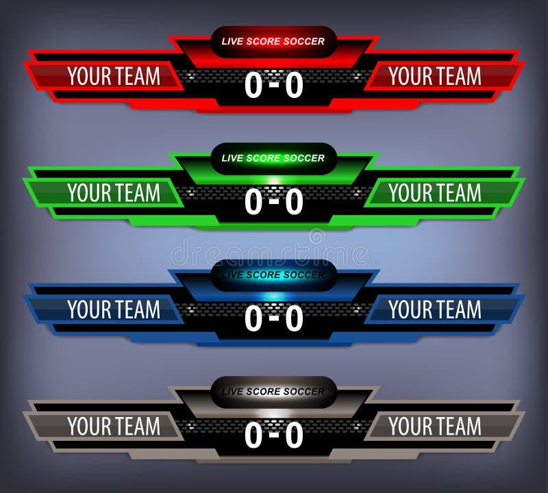 Le football Live Scoreboard illustration libre de droits