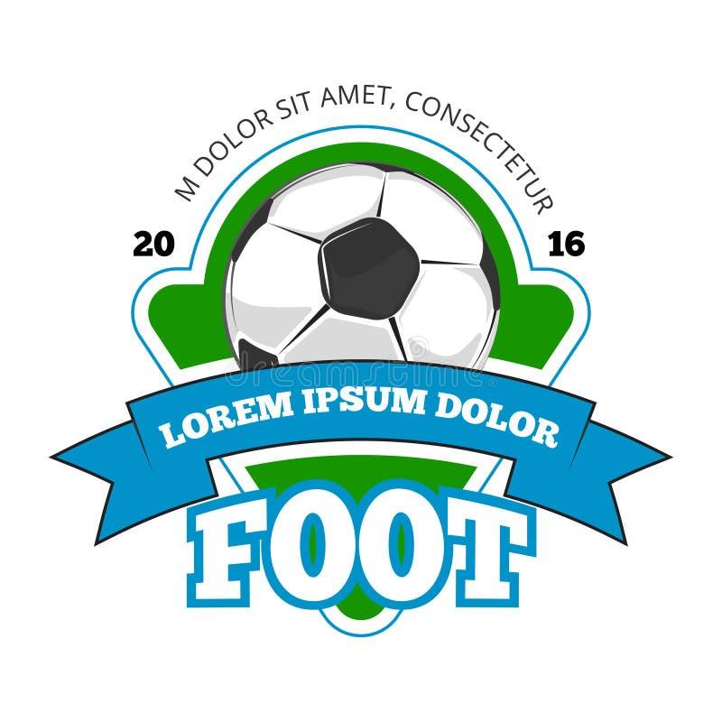 Le football, logo de vecteur de club du football, calibre d'insigne illustration libre de droits