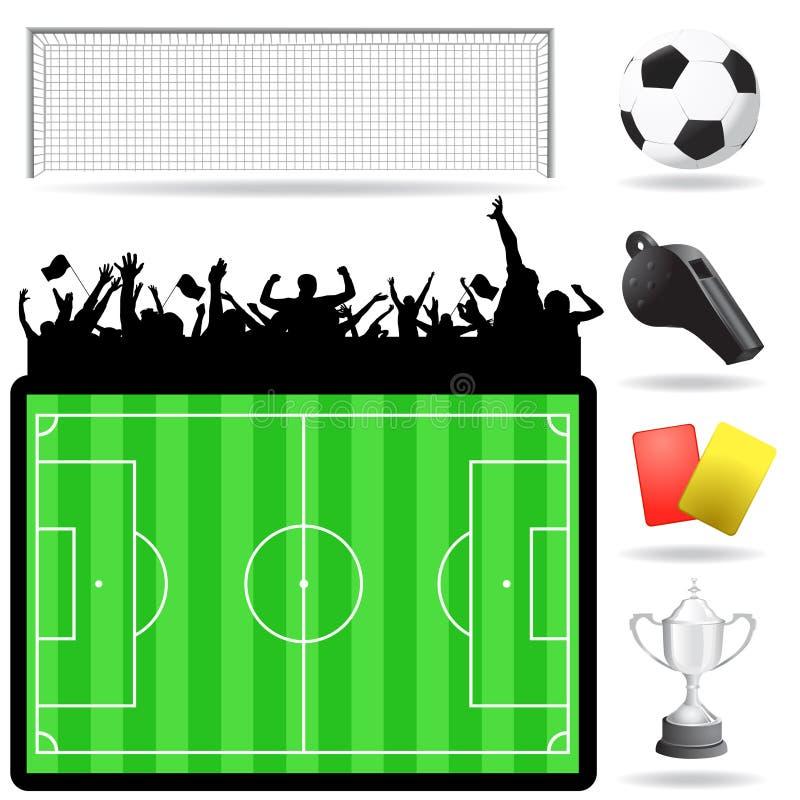Le football objecte le vecteur illustration stock