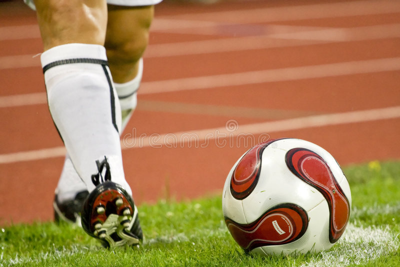 Le football ou le football photo stock