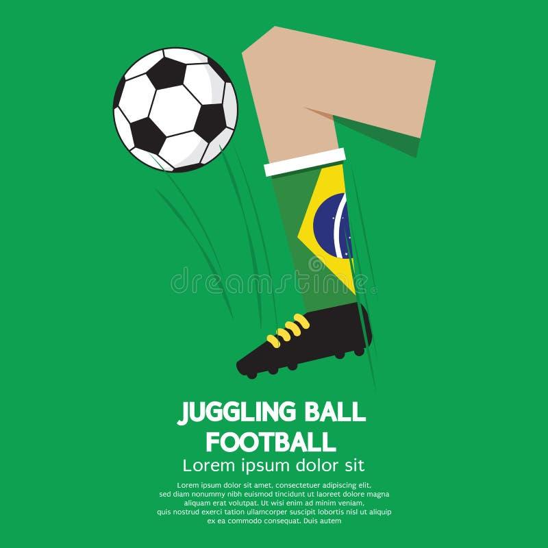 Le football ou le football de jonglerie de boule illustration stock