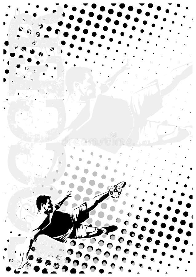 Le football pointille le fond 4 d'affiche illustration libre de droits