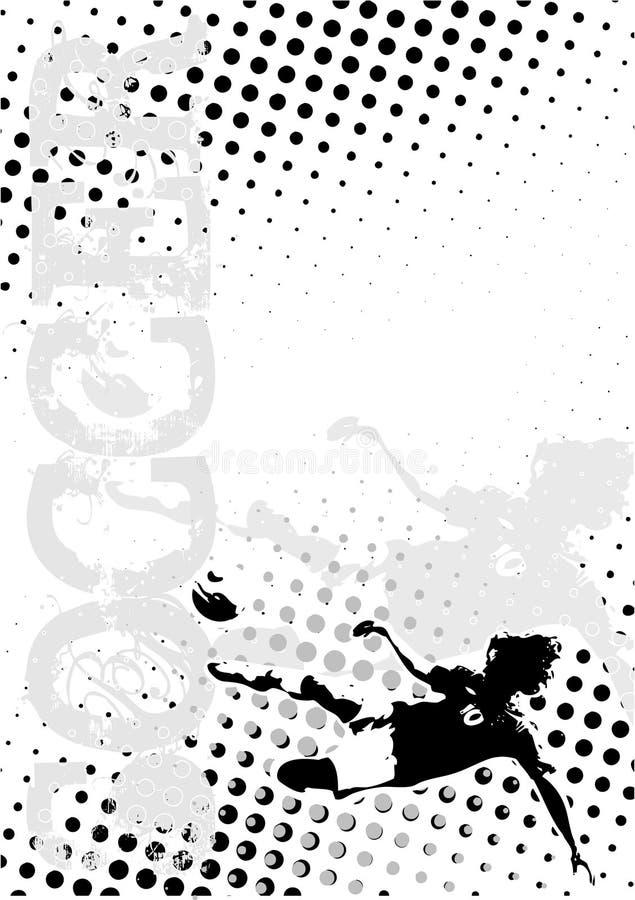 Le football pointille le fond d'affiche illustration de vecteur