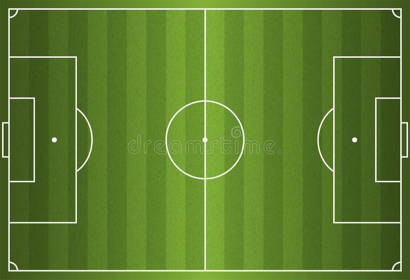 Le football réaliste de vecteur - terrain de football illustration stock