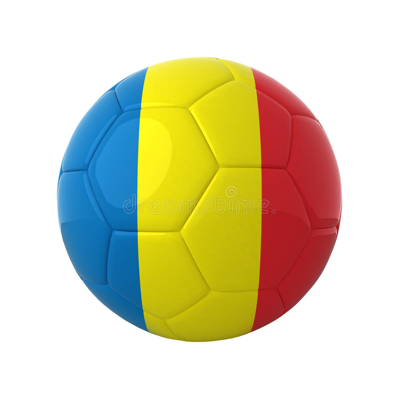 Le football roumain. photo stock