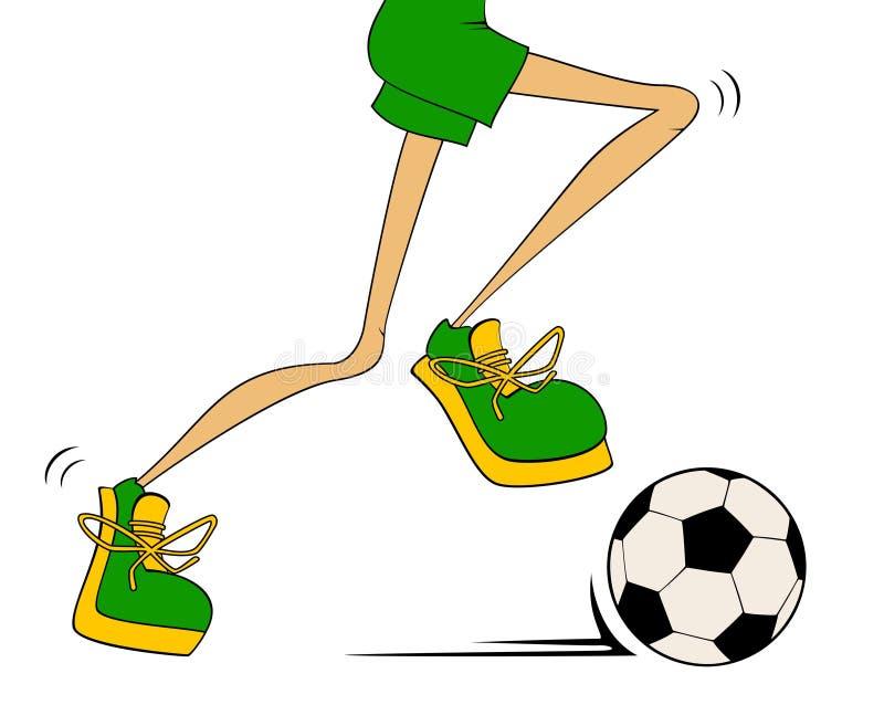 Le football sportif de pièces de pattes de dessin animé illustration de vecteur
