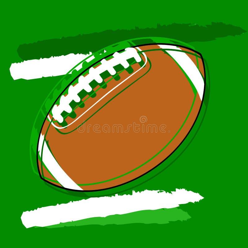 Le football stylisé illustration libre de droits