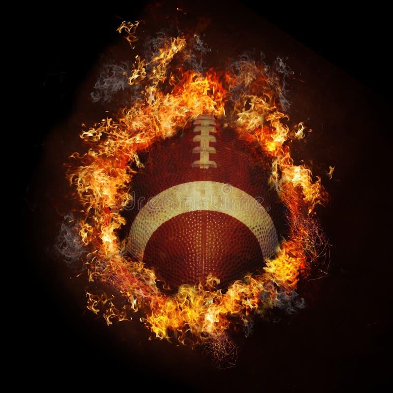 Le football sur l'incendie