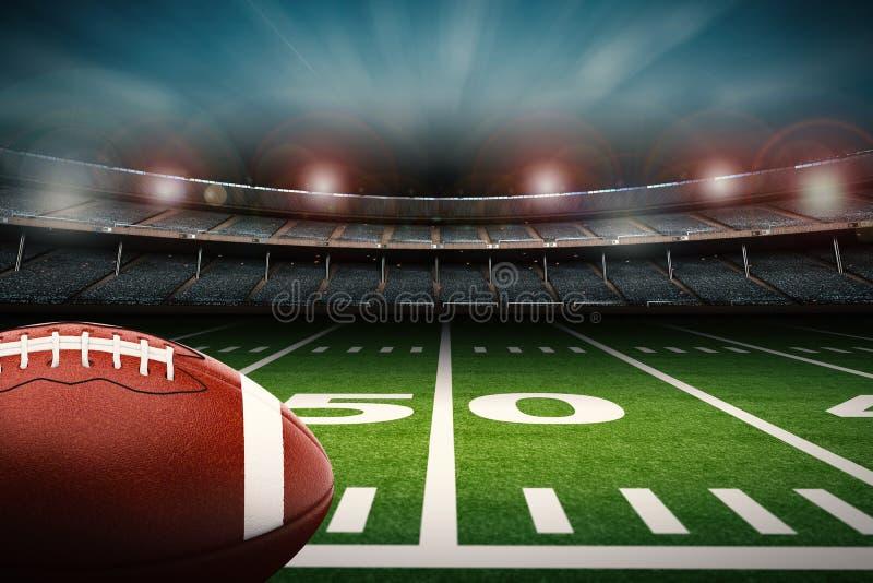 Le football sur la zone illustration libre de droits