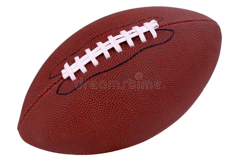 Le football sur le blanc image stock