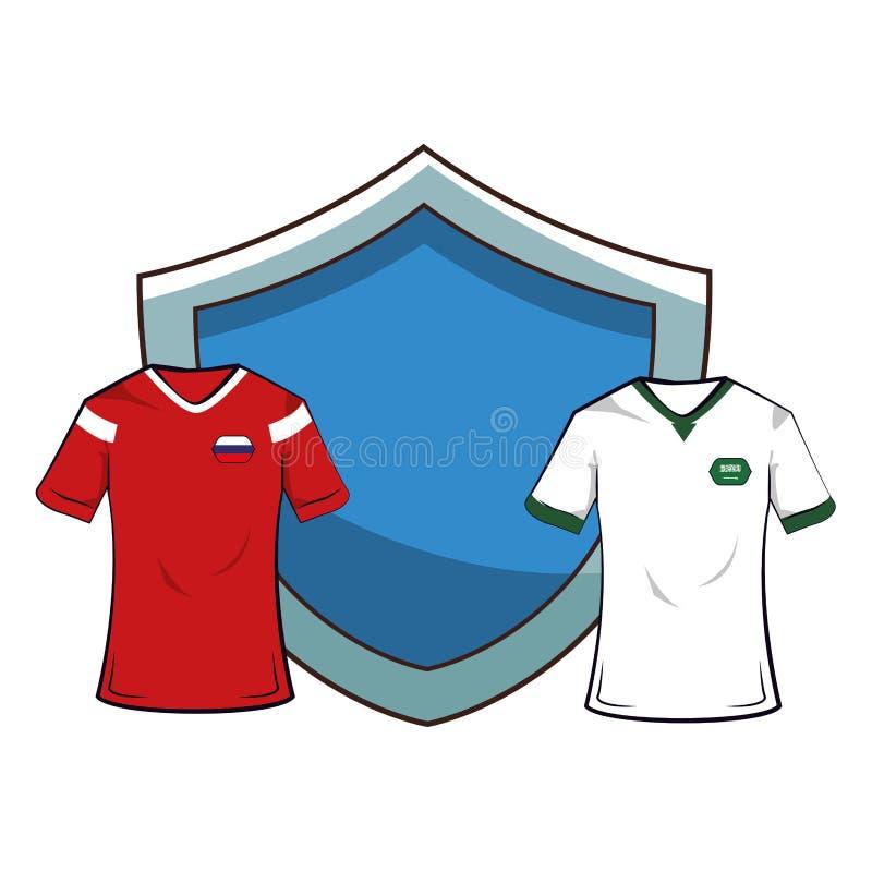 Le football Team Uniforms illustration de vecteur