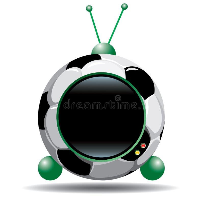 Le football TV illustration libre de droits