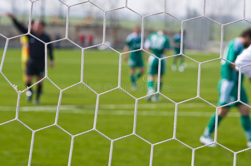 Le football - un fond abstrait. images libres de droits