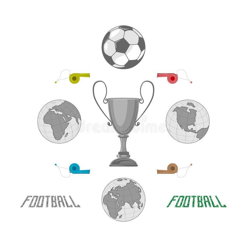 Le football, unissant le monde entier illustration stock
