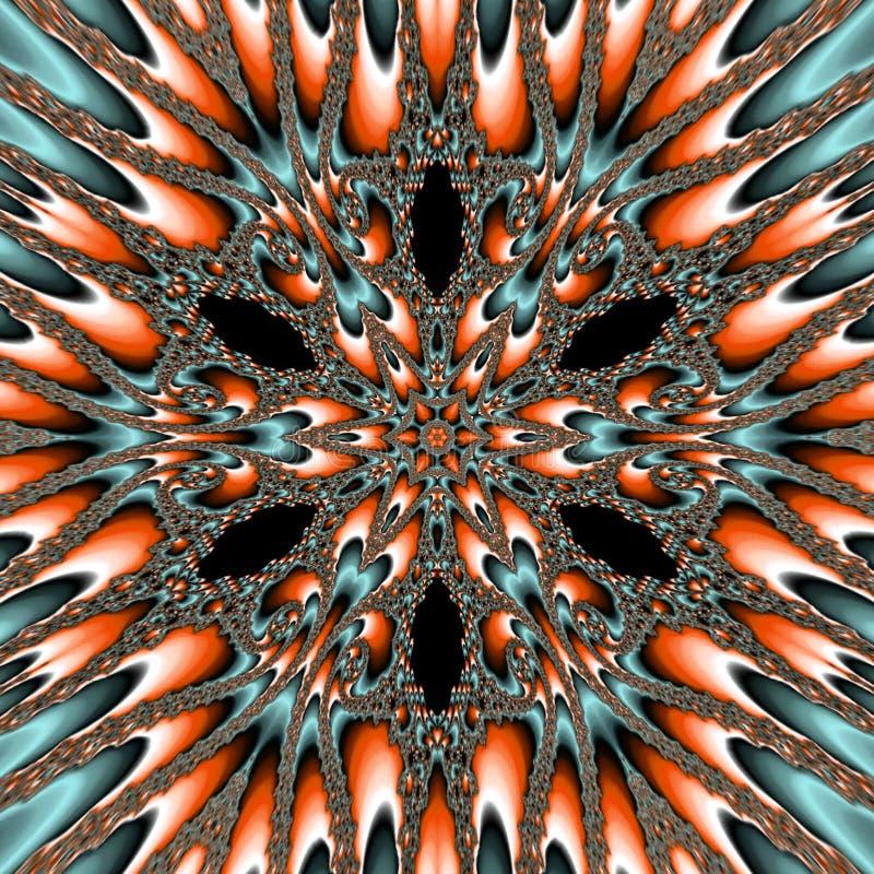 Le forme di frattale del fondo, effettuano il fiore nucleare della stella royalty illustrazione gratis