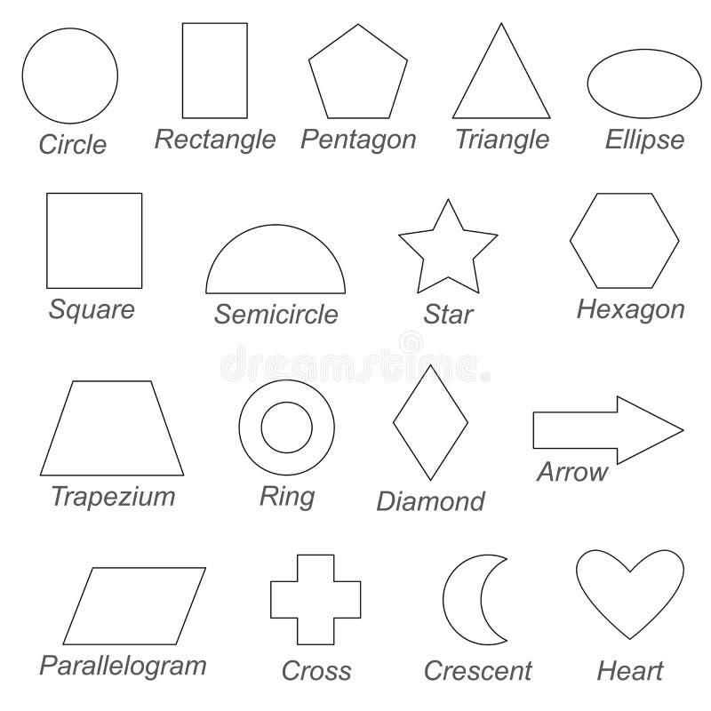 Le Forme E Le Forme Geometriche Hanno Messo La Grande Pagina Da