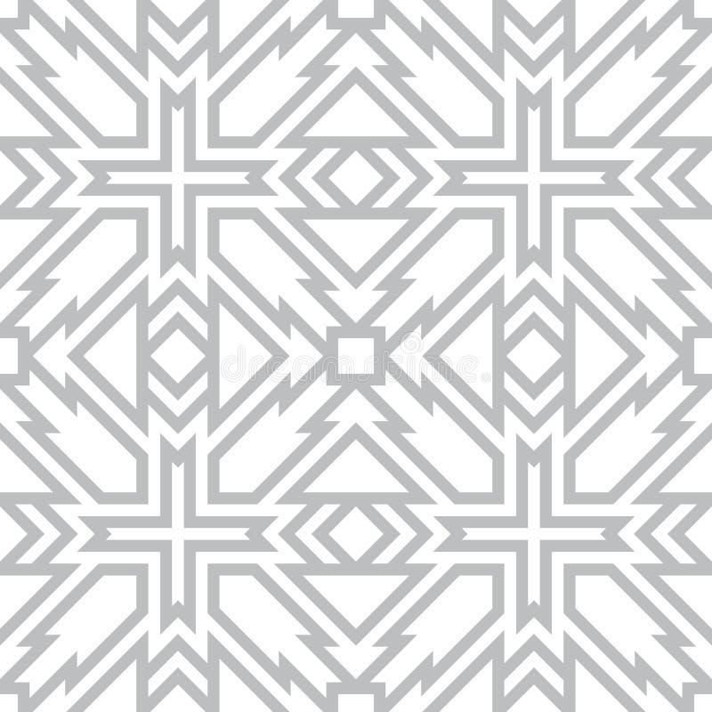 Le forme geometriche formano un modello senza cuciture Angoli taglienti e linee rette illustrazione vettoriale