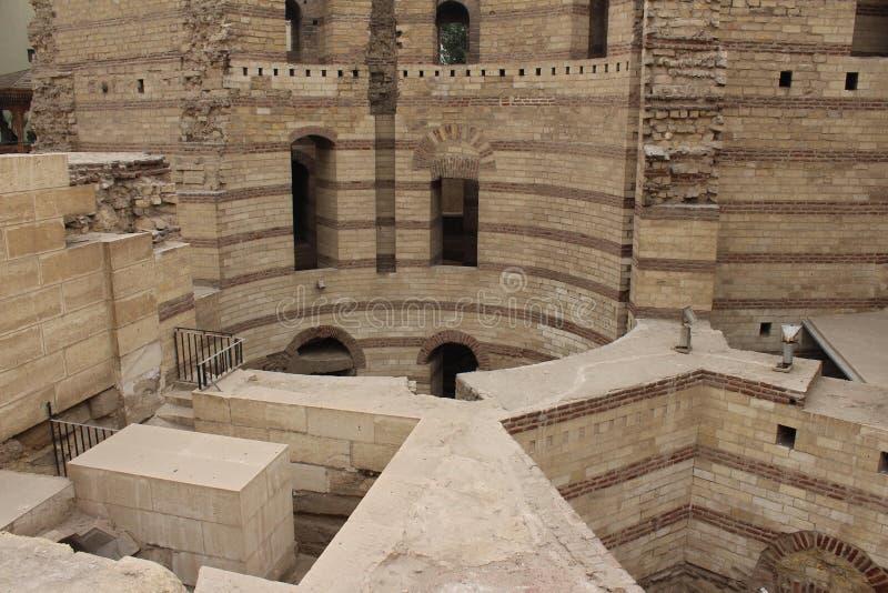 Le fort de Babylone, le vieux Caire photos libres de droits