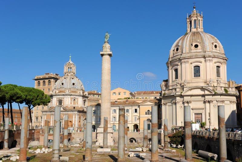Le forum de Trajan, Rome photo libre de droits
