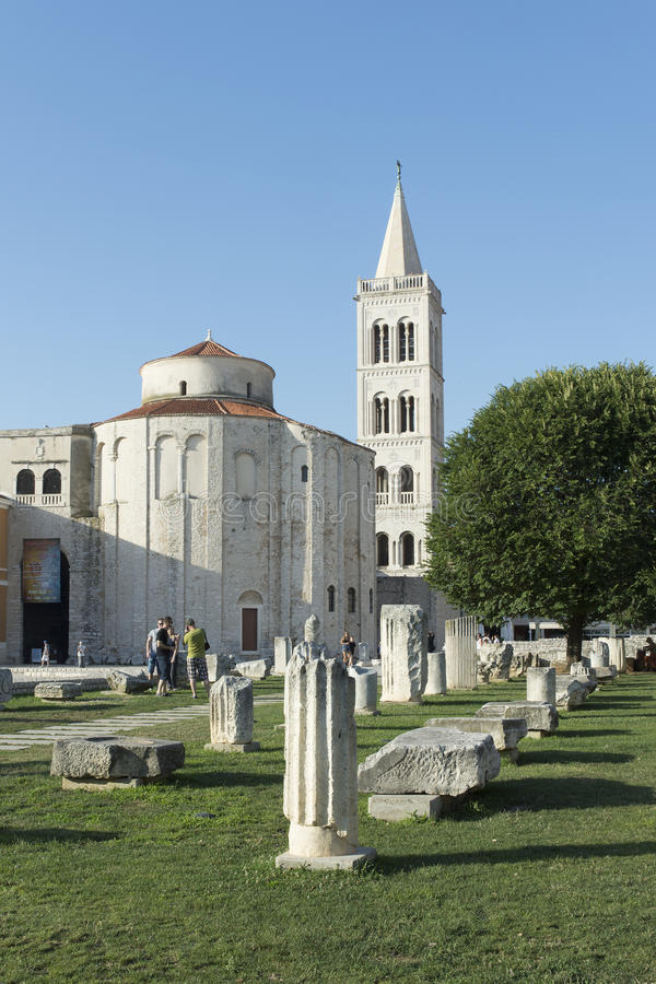 le forum romain dans Zadar, Croatie photographie stock
