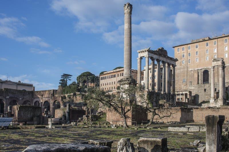 Le forum romain Rome Italie l'Europe photos libres de droits
