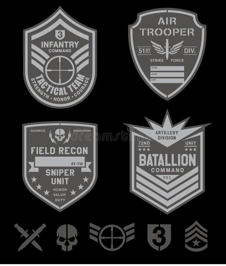 Le forze speciali rattoppano l'insieme illustrazione di stock