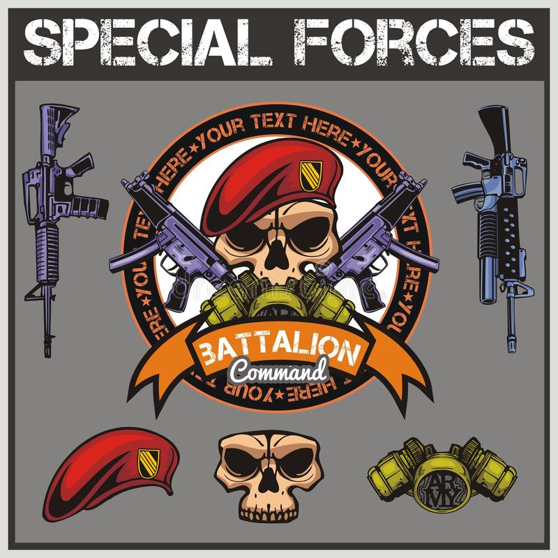 Le forze speciali rattoppano l'insieme - vettore di riserva illustrazione vettoriale
